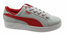 Puma match toile Jr Baskets junior CHAUSSURE ENFANT grises à lacets 356009 02