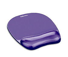 NEW! Fellowes 91441 Crystal Gel Mousepad and Wrist Rest Purple