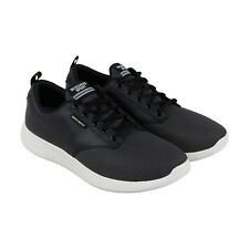 Skechers Depth Charge Trahan Mens Black Mesh Leather Athletic Training Shoes