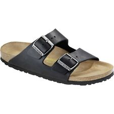 Birkenstock Arizona Oiled Leather Femme Chaussures Tongs - Black Toutes Tailles