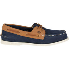 Sperry Authentic Original 2 Eye Washable Homme Chaussures Mocassins - Navy Tan