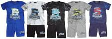 Boys 5 Star College Marble T-Shirt Top & Shorts Summer Outfit Set 2 to 8 Years