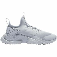 Nike Huarache Drift Wolf Grey White Youth Mesh Slip-on Low-top Athletic Trainers