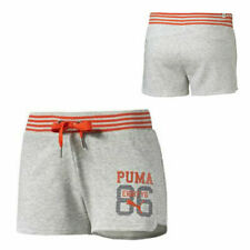Puma Style Athletic Womens Light Grey Heather Sport Short Shorts 836403 04 EE85