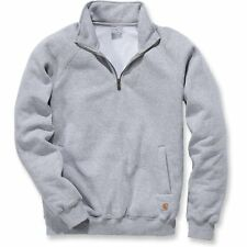 Carhartt Midweight Quarter Zip Mock Neck Homme Pull Sweater - Heather Grey