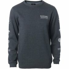 Rip Curl Stacked Vibes Mens Jumper - Dark Marle All Sizes