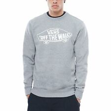 Vans Off The Wall Crew Homme Pull Sweater - Cement Heather White Outline