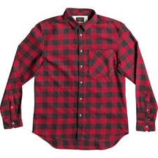 Quiksilver Motherfly Flannel Mens Shirt Long Sleeve - Chilli Pepper All Sizes