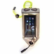 Aquapac Mp3 Case Unisexe Sac à Dos Imperméable - Grey W Acid Green Lanyard