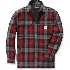 Carhartt Hubbard Sherpa Lined Homme Chemise - Dark Crimson Toutes Tailles