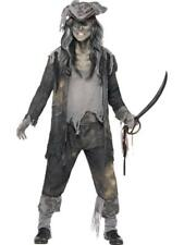 Mens Halloween Ghost Ship Ghoul Pirate Fancy Dress costume