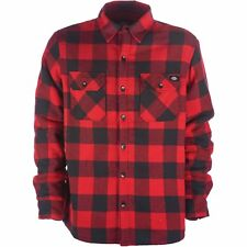 Dickies Lansdale Mens Shirt Long Sleeve - Red All Sizes