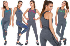 Womens Sports Set Top & Leggings Comfortable Ladies Activewear Size S-XXL FS05