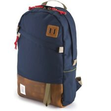 Topo Designs Daypack Unisexe Sac à Dos - Navy Brown Leather Une Taille