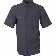 Carhartt Fort Solid Homme Chemise à Manche Courte - Black Chambray