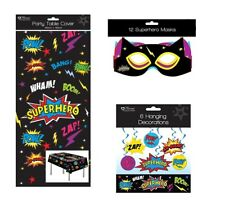 Superhero Party Decorations Tablecloth Hanging Decorations Party Masks Superhero