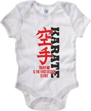 Body Neonato Bianco TAM0039 FIRST KARATE LESSON IS FREE WHITE
