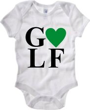 Body Neonato Bianco TLOVE0039 I LOVE HEART GOLF