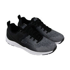Skechers Nichlas Mens Gray Textile Athletic Lace Up Training Shoes