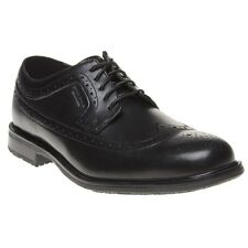 New Mens Rockport Black Essential Detail II wing tip Leather Shoes Brogue Lace