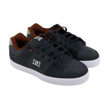 DC Pure Mens Gray Nubuck Sneakers Lace Up Skate Shoes