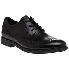 New Mens Rockport Black Madson Wingtip Leather Shoes Brogue Lace Up