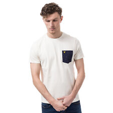 Mens Lyle & Scott Fil Coupe Pocket T-Shirt In Off White