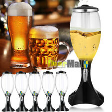 Lots 4.5L Tabletop Wine Beer Tower Dispenser with LED Colorful Shinning Light
