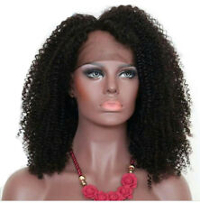 Afro Brazilian Human Hair Full Lace Wig Curly Women With Baby Hair Black Wigs