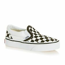 Vans Classic Slip On Kids Footwear Shoe - (checkerboard) Black True White