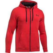 Under Armour Rival Fitted Homme Sweat à Capuche Avec Fermeture Éclair - Red