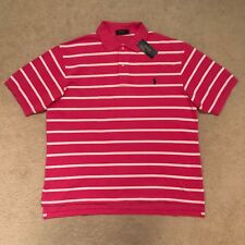 Polo Ralph Lauren Big & Tall Classic Fit Striped Polo Shirt - Pink RRP: €99.00
