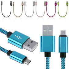 Micro USB Cable Braided FAST CHARGE Nylon Data Sync Cord Lead Samsung Huawei