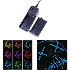 LED Light Up Flash EL Wire DJ Party Raver Scary Mask Halloween Costume Cosplay