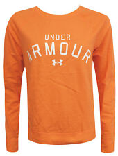 Under Armour Crew Neck Long Sleeved Womens Orange Jumper Sweat 1257924 800 EE148