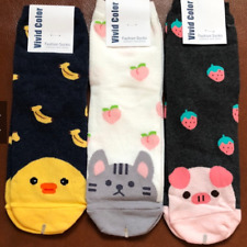 Korean Socks - Animals with Food - Iconic Socks - Cat (Pear)
