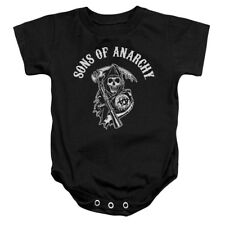 Sons Of Anarchy Soa Reaper Unisex Baby Snapsuit Black (6 Mos)