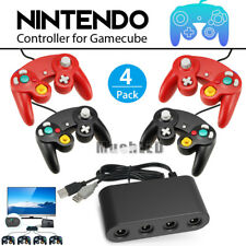 4 Port GameCube Controller/Wii U Adapter + 4xNGC Wii Wired Game Cube Controller
