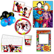 Disney Pixar The Incredibles Children's Birthday Plates Cups Party Supplies