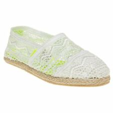New Womens Superdry White Jetstream Lace Textile Shoes Espadrilles Slip On