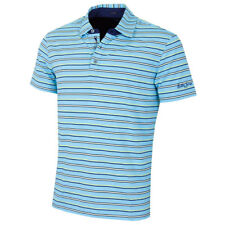 Bobby Jones Hombre Coney Rayas Manga Corta Polo de Golf - 66% sin Mangas
