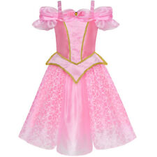 Sunny Fashion Robe Fille Princesse Aurore Costume Bruyère Rose Habiller Up Rose