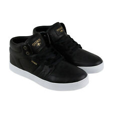 Osiris Helix Mens Black Leather Lace Up Sneakers Shoes