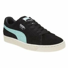 New Mens Puma Black Suede Trainers Retro Lace Up
