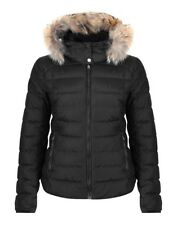 Belstaff Avedon Downwith Removable Fur Trim Hood Womens Jacket Down - Black