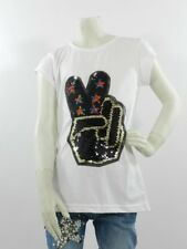 T-shirt bambina bianca 16 anni 100% Cotone Made In Italy