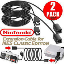 2Pack 10FT Extension Cable Cord For Nintendo NES Mini Classic Edition Controller