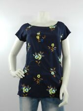 T-shirt donna blu M 100% cotone Made In Italy