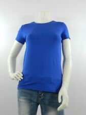 T-shirt donna blu M 90% cotone 10% elastam Made in Italy