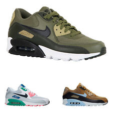 Nike Air Max 90 Essential Leather Mesh Low-Top Sneakers Mens Trainers